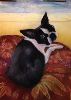 The Purple Hen Paintings| Karen Schlansky Animal paintings Pastel