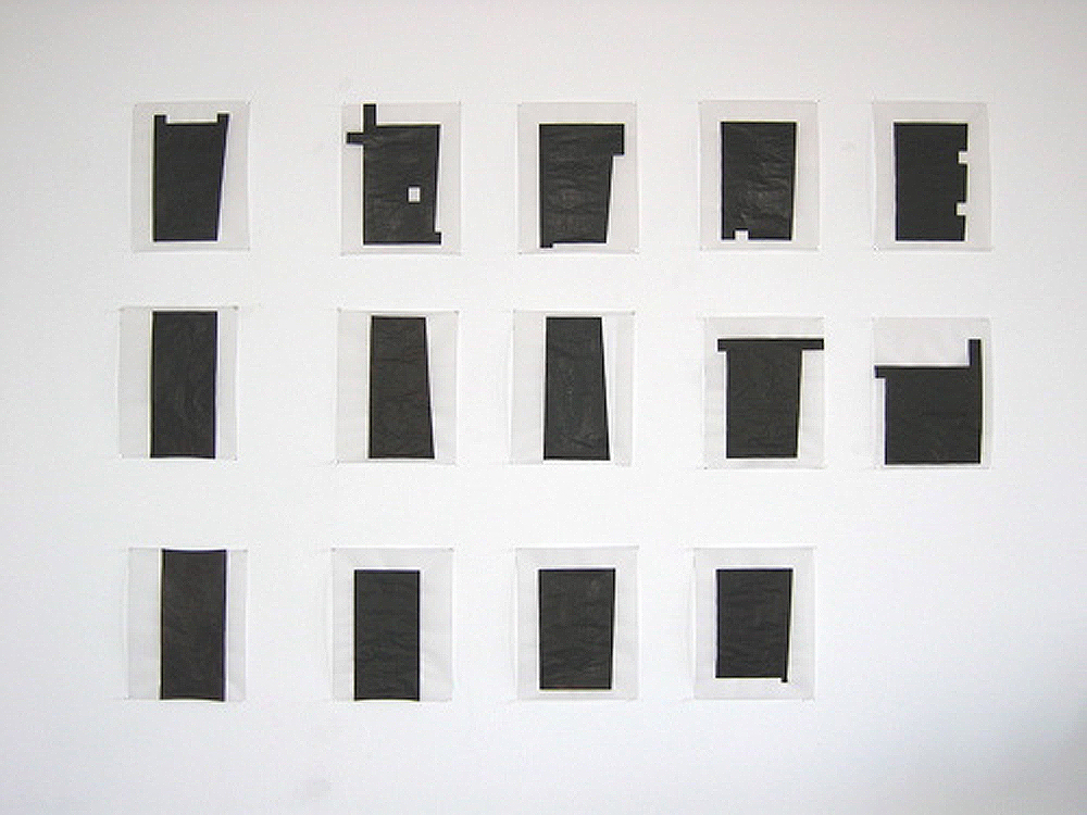 """Architectural Interventions"", ""12 House Plans"" and earlier work Studio view, Icon series"