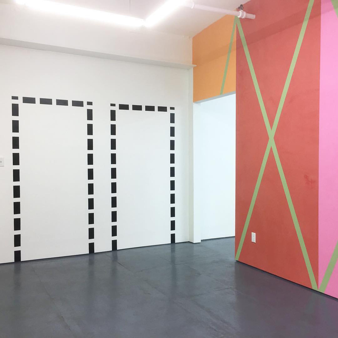 "Tape Installations and Other Assorted Works Installation View: ""Knock, Knock"""