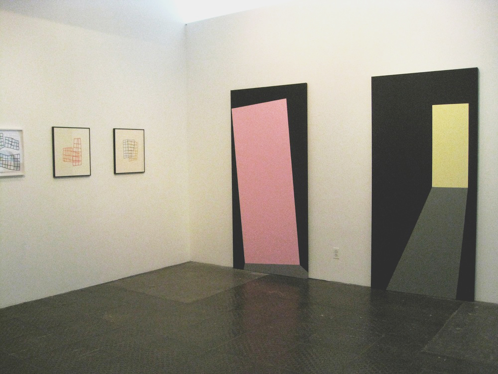 "Buildings and Doorways Installation view, ""The Space Between: Karen Schifano and Paige Williams"""