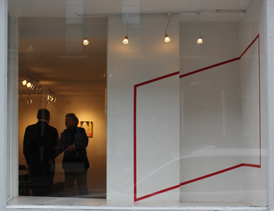 "Installation view, North Window, ""Something Sacred"""