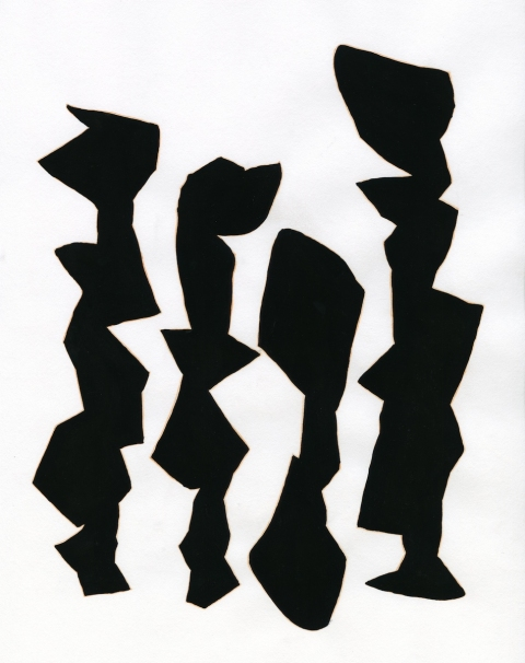 Manuscripts (2012-) Untitled (Scrawled Figures)
