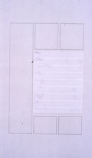 Agnes Martin Obituary Project (2005-) graphite, tape on vellum