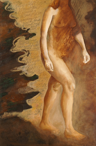 """Figurative Testimonials"" 2006-2009 oil and mixed media on gessoed board"