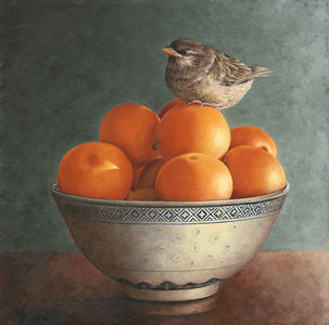 Karie O'Donnell Oils House Sparrow