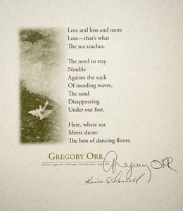 Karie O'Donnell Poetry Broadsides Gregory Orr