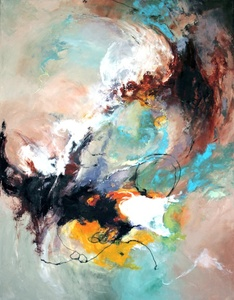 Kari Feuer Abstracts in oils Oil on Linen