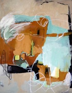 Kari Feuer Abstracts in oils Oil on Canvas