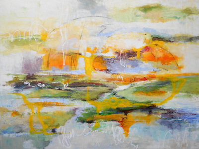 Kari Feuer Abstracts in oils Oil/Linen