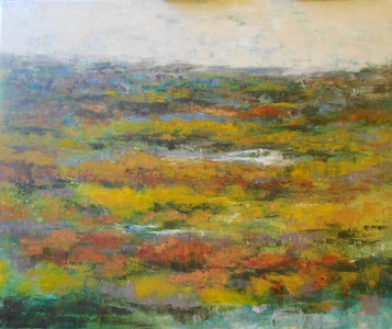 Kari Feuer Landscapes in oils Oil and cold wax on Linen