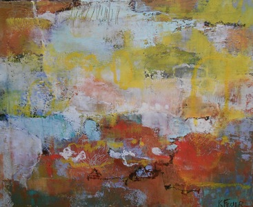 Kari Feuer Abstracts in oils Oil and Cold wax