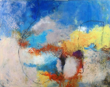 Kari Feuer Abstracts in oils Oil and cold wax on panel