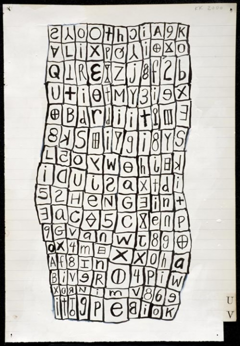 KARLA KNIGHT Language Drawings (2000-10) ink on paper