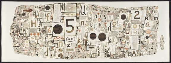 KARLA KNIGHT Language Drawings (2000-10) ink and watercolor on paper