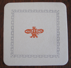 Kate Emlen Coasters linoleum cut and cast border