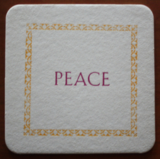 Kate Emlen Coasters Type and cast border