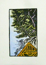 Kate Emlen Greeting cards linoleum cut