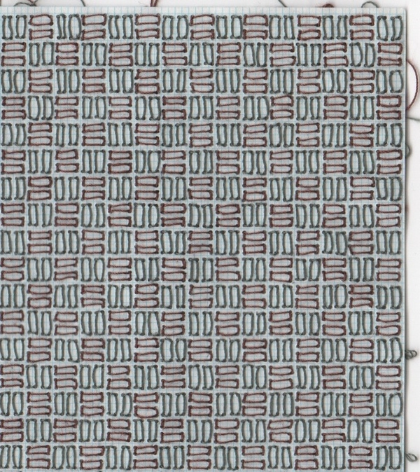 Stitch Works stitched graph paper