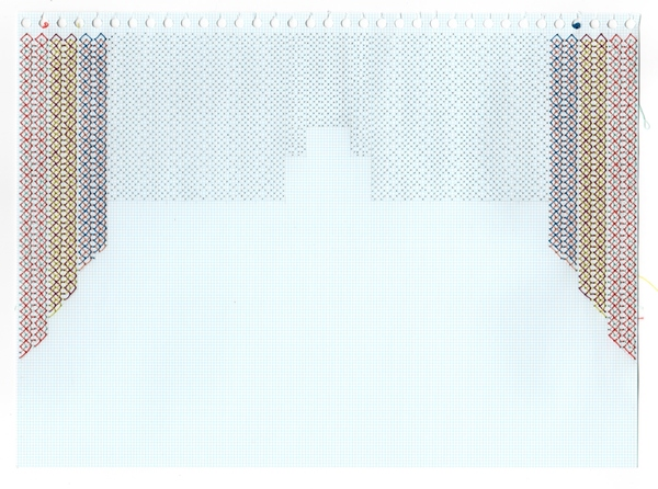 Curtains Series stitched graph paper