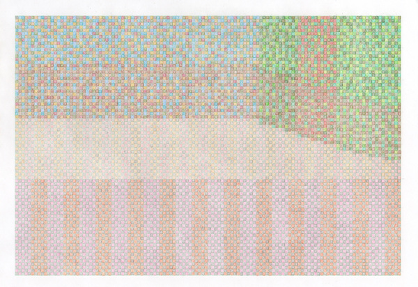 Small Stages colored pencil on graph paper