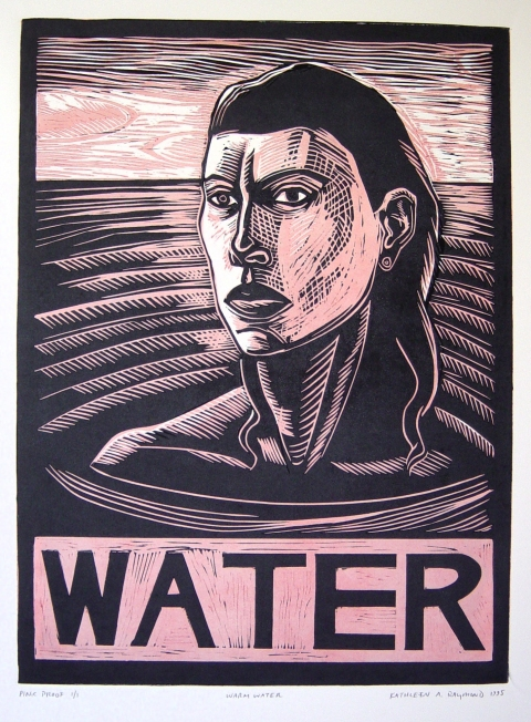 Prints & Mixed Media Head Above Water
