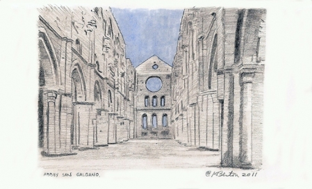 Kathleen Benton Lights in the Distance:  Italy & France 5x8.25 inches