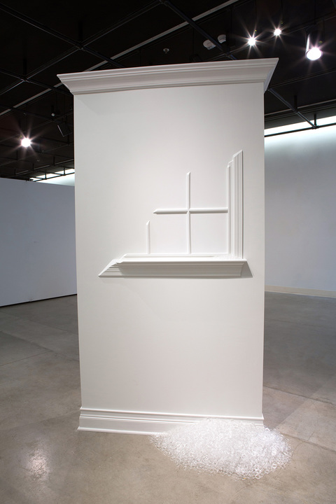 Kathleen W. Kennedy MDK DHK 10-9-82: 31 years of daily interaction with an object domestic wall, trim, 11, 323 clear acrylic rings