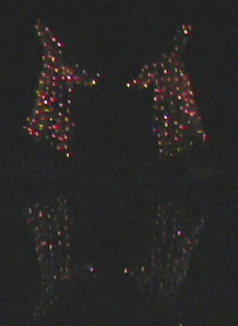 Being as Light Silk metallic organza, 160 led's