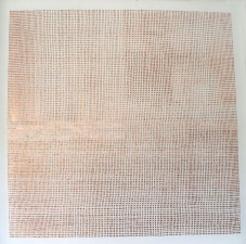 KATHLEEN ANDERSON Etheric Substance Copper foil on silk organza