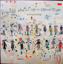 kathy beynette friends acrylic on board