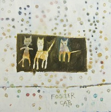kathy beynette cats and dogs oil on wood