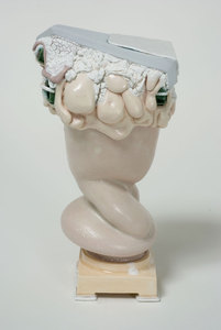 "KATHY BUTTERLY ""Pantyhose and Morandi,"" Tibor de Nagy Gallery (2010) clay, glaze"