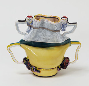 "KATHY BUTTERLY ""The Weight of Color,"" Shoshana Wayne Gallery (2015) clay, glaze"