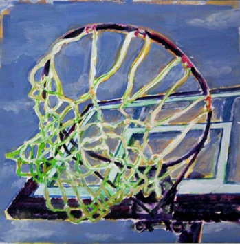Kathy Calhoun En Plein Objects Acrylic paint and colored pencil