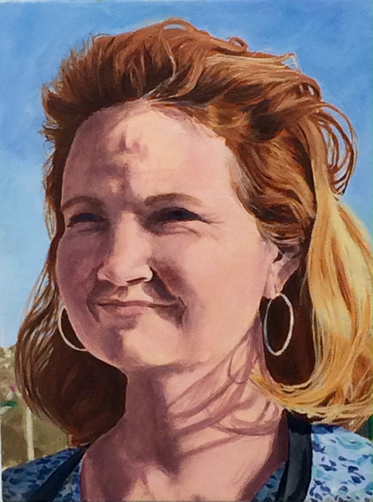 Kathy Calhoun Self Portraits Oil on Canvas