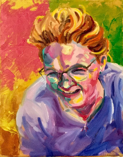 Kathy Calhoun Self Portraits oil