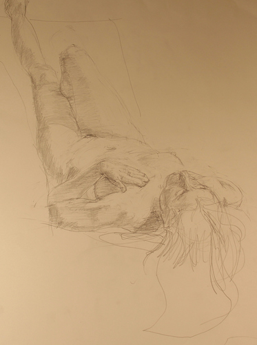 Kathy Calhoun Sketchbook/Figure Studies  Graphite