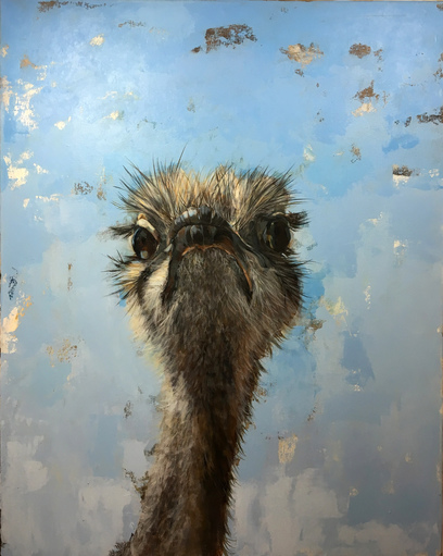 KATHY FEIGHERY Animal Series Acrylic on Canvas