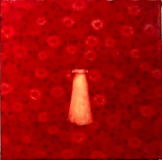 KATHY FEIGHERY Dress Series  oil and beeswax on fabric over panel