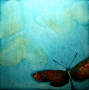 KATHY FEIGHERY Bugs & Butterflies oil on panel