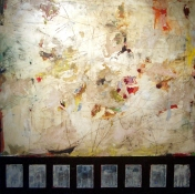 KATHY FEIGHERY Abstractions mixed media on panel