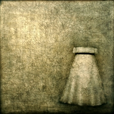 KATHY FEIGHERY Dress Series  oil and graphite on panel