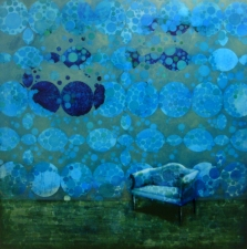 KATHY FEIGHERY Interiors oil on panel