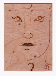 Kathy Hirshon Wood Objects wood-burning on birch veneer