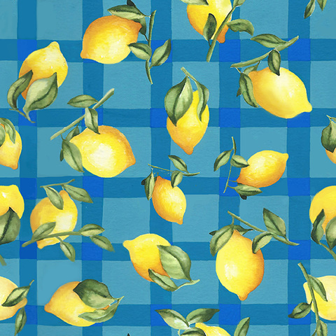 Surface & Textile Design lemon plaid