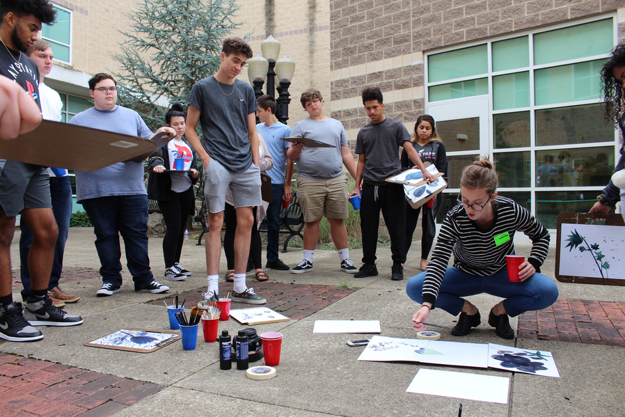 Public Art Visiting Artist Workshop at Portsmouth High School, with the support of Rio Grande University, Ohio