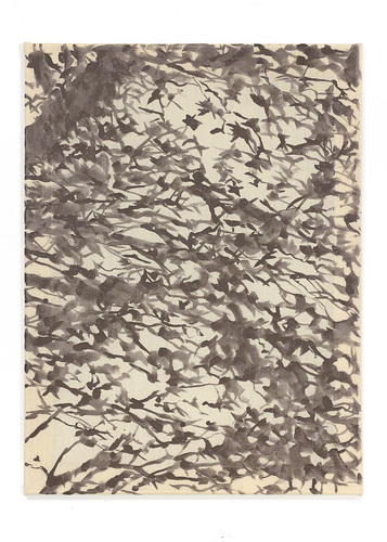 Katie M Westmoreland Light Shape Shadow Form liquid photo emulsion, cotton fabric on stretcher bars