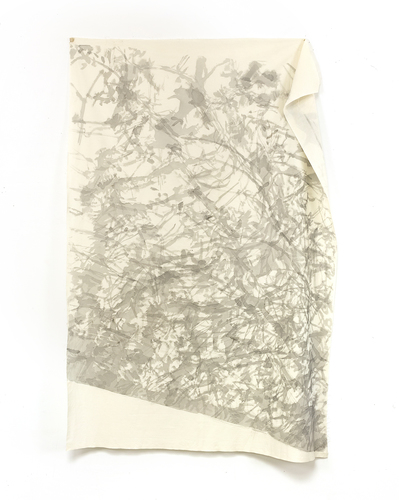Katie M Westmoreland Light Shape Shadow Form sumi ink on cotton fabric