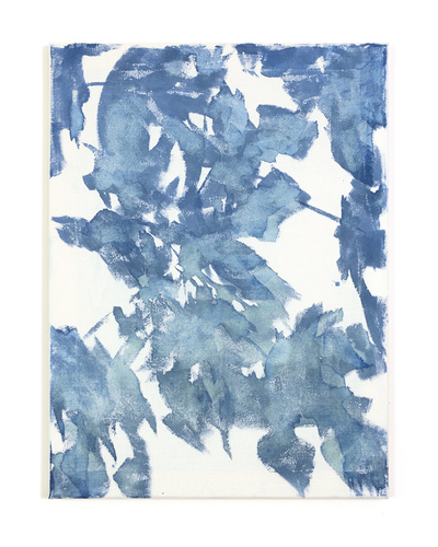 Katie M. Westmoreland Textile Paintings cyanotype solution, cotton fabric on stretcher bars
