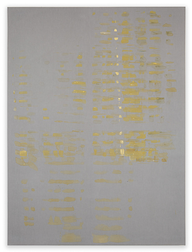 Katie M Westmoreland Light Shape Shadow Form acrylic paint, cotton fabric on stretcher bars
